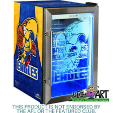 WEST COAST FOOTBALL CLUB OFFICIAL WEG ART EAGLES GLASS DOOR BAR FRIDGE - 70LTR