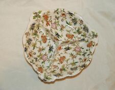 Vintage Japan Floral 3 Section Divided Candy Nuts Condiments Tray Server Bowl