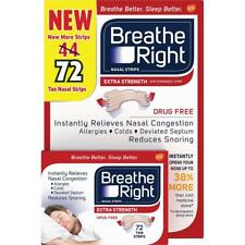 72CT Breathe Right Extra Fuerza Bronceado Nasal Strips-Strongest Tira Reductor