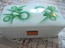 Anttike Brotdose / Box - Brotkasten aus Emaille - EMAIL mit  Spritzdekor