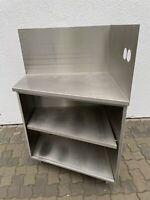 Arbeitsschrank Eck Regal Arbeitstisch aus Edelstahl 80x65x185cm