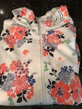 Old Navy Girl's Floral Full Zip Up Hooded Jacket Size Xl 14 Nwt