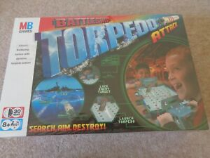 MB Games Battleship Torpedo Attack Board Game 2 Players Family Fun NEW & SEALED