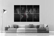 CARTE DU MONDE WORLD MAP DIGITAL VERSION Wall Art Poster Grand format A0