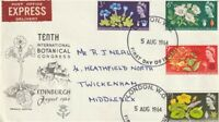 5 AUGUST 1964 BOTANICAL CONGRESS NON PHOSPHOR FIRST DAY COVER LONDON WC FDI