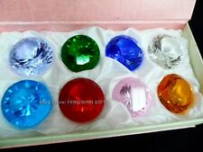 40mm High Quality Crystal Cut Faceted Prism Glass Art Diamond Gift Box Set Nice!