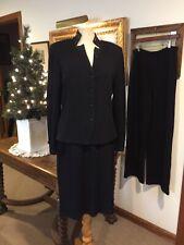 St. John Evening 3-piece black beaded suit 10/12