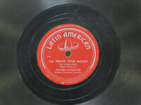 Don Pablo 78 I'll Never Love Again bw Words of Love on Latin American Latin