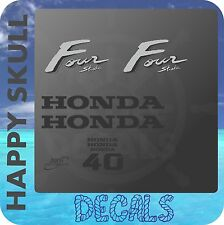Honda 40 hp Four Stroke outboard engine decal sticker set reproduction old style