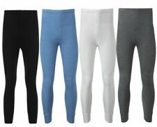 Mens Thermal Long Johns Pants Leggings Warm 0.45 Tog Grey White Blue Black