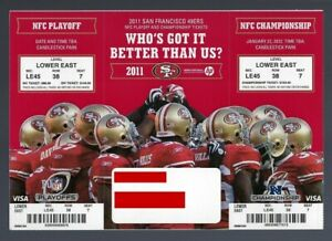 2011-12 NFL NFC PLAYOFFS SAINTS & GIANTS @ 49ERS FULL UNUSED FOOTBALL TICKETS