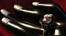 Wabbit! ring size 7 top hat white rabbit magician Alice magic rabbiy bunny