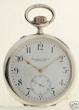 IWC LEPINE TASCHENUHR 57 MM  SILBER ÜBERGROßE B-UHR   3 VERSCHR. CHATONS ca 1910