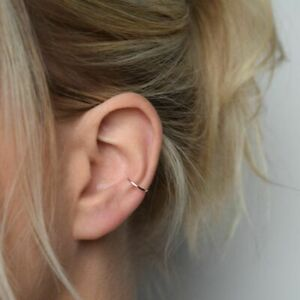 Continuous Conch Piercing Hoop Nose Ring Helix Cartilage Tragus Piercing Hoop