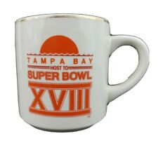 Vintage Tampa Bay Host To Super Bowl XVIII Coffee Mug Cup Raiders Washington NFL