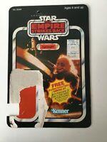 Original Star Wars Vintage Ugnaught ESB Card Back Kenner 41 Back 1980