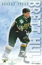 Vintage Original BRETT HULL ACTION Dallas Stars NHL Hockey Poster (2000)