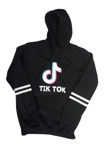 Tik Tok Black Hoodie M 7 Juniors