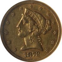 1872-S Liberty Gold $5 NGC AU53 Nice Eye Appeal Nice Luster Nice Strike