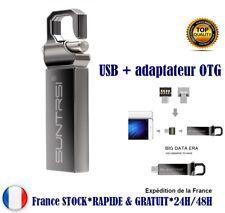 Clé usb flash drive + adaptateur OTG micro USB 8 G 16 G 32 G metal haute vitesse