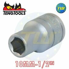 Unità 1/2in Teng Tools 10mm Socket Hex 6 punti Regular METRICA m1205106-c