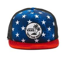 VANS SURF PATCH TRUCKER HAT AMERICAN FLAG  STYLE 0184 (VNOOOXZFH45)