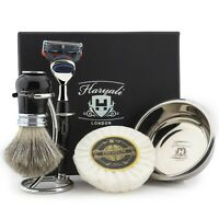 Men's Shaving Beard Grooming Kit Barber Salon Shave Products For Shavers HARYALI