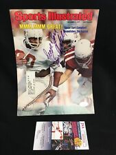 Earl Campbell Houston Oilers TEXAS Signed SI Sports Illustrated Cover JSA