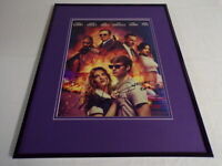 Lily James & Edgar Wright Signed Framed 16x20 Baby Driver Poster Display AW
