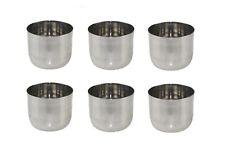 6 x Stainless Steel Sauce Pots Cups 4oz Ramekins Condiment Serving Bowls LARGE