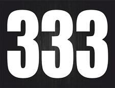 3x Pegatina sticker adesivi adhesivo tunning vinilo numero numeros moto auto 3