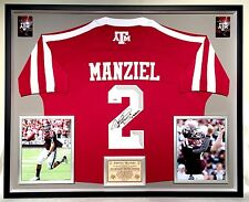 Premium Framed Johnny Manziel Signed Adidas Texas A&M Aggies Jersey PSA/DNA