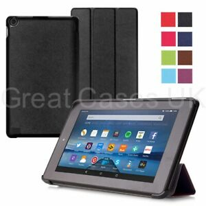 Ultra Thin Origami PU Leather Case Cover For Amazon Fire HD7, 8, Fire 7, HD8