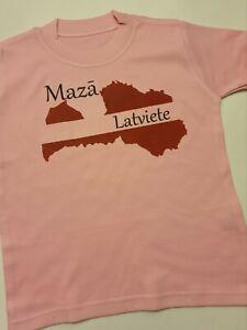 T-shirt for girls 1 years - 6 years , print file Mazā Latviete