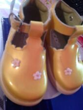 Moda Baby Girl Shoes Green Yellow Patent Leather Farniente 19 3.5 Buckle New $66