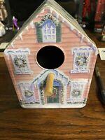 Birdhouse Collectable Tin Winter Style Christmas Vintage