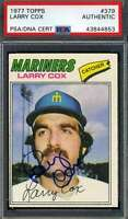 Larry Cox PSA DNA Coa Autograph 1977 Topps Hand Signed