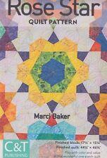 SALE - Rose Star - modern pieced quilt PATTERN - Marci Baker