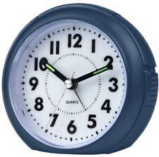 ATRIUM sveglia analogica blu senza ticchettio, con luce e funzione Snooze (C4p)