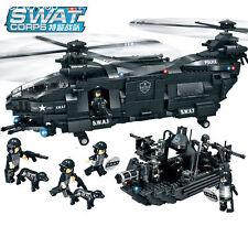 Military 1351pcs SWAT Police Model Building Blocks Assembly Building Block