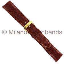 20mm Di-Modell Genuine Teju Lizard Honey Tan Aero-Padded Stitched Watch Band