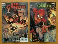 RED GOBLIN RED DEATH 1 Tan Main Cover A + Wraparound Var Marvel 2019 NM+
