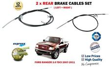 FOR FORD RANGER 3.0 TDCI FE90 2006-2011 NEW 2 X REAR LEFT RIGHT BRAKE CABLE SET