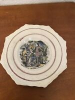 Antique ca. 1830 English Pearlware Pottery Robinson Crusoe & Family Dining Plate