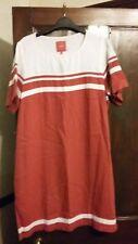White & Coral Linen Shift Dress by Next Size 16 BNWT