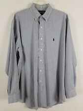 RALPH LAUREN long sleeved button front Yarmouth 100% cotton blue shirt size 16