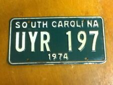 License Plate Tag South Carolina SC 1974 UYR 197 Clear Coat Added? Rustic USA