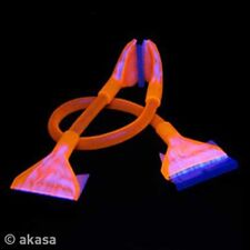 Akasa Day-Glo UV Reactive Round IDE Cable 45cm ORANGE