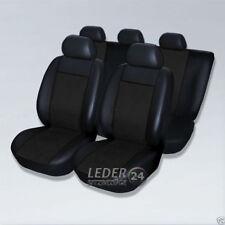 VW POLO 6N 6R 9N Sitzbezüge Schonbezüge Kunstleder XX schwarz schwarz