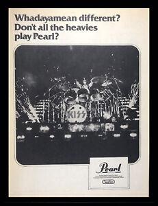 "1978 Peter Criss KISS Pearl Drums ""Whadayamean Different?"" Original Print Ad"